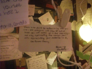 A nook at Shakespeare & Company