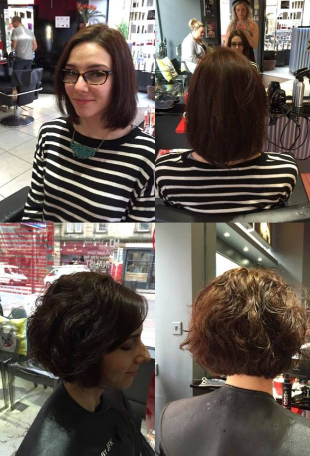 Nadine took some before/after photos, which I've borrowed from Hair by JFK's facebook page :)