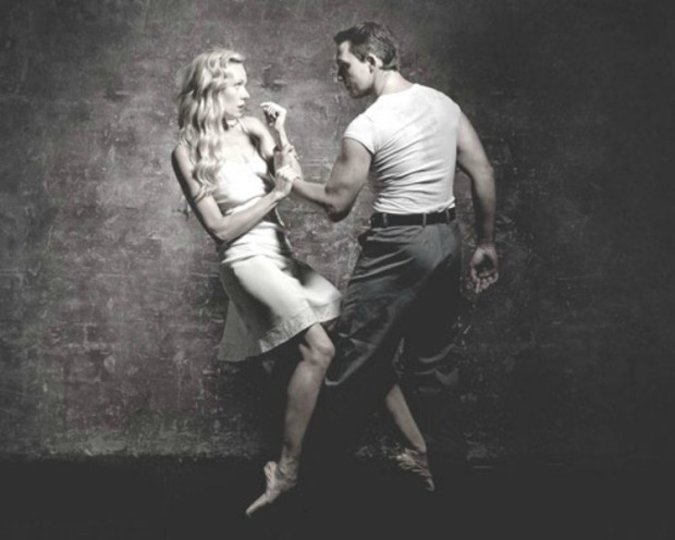Eve Mutso and Tama Barry in a publicity image for A Streetcar Named Desire. © Graham Wylie.