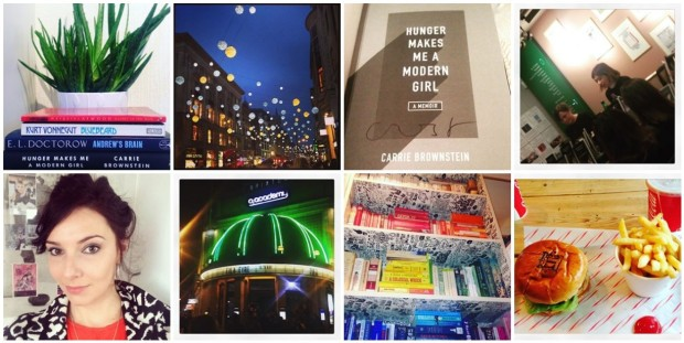 This week I've been book buying, seeing Oxford St's Christmas lights, swooning over Carrie Brownstein, getting dressed up for driving lessons (!), watching Ella Eyre jump around the o2 Academy Brixton, colour coding my bookcases, and munching falafel and halloumi burgers. Mmmmm.